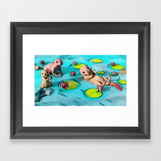 Otters Framed Art Print
