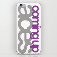 asexual iPhone & iPod Skins featuring coming up aces by Brizy Eckert