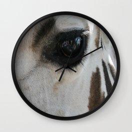 Giraffe Lashes Wall Clock
