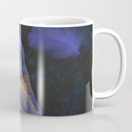 Blue Bird and Feathers Coffee Mug