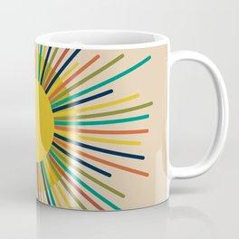 Sunbow 2 - Multicolor Mid Mod Sun Coffee Mug