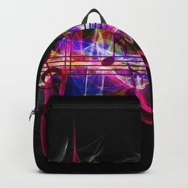 Colorful musical notes and scales artwork Backpack
