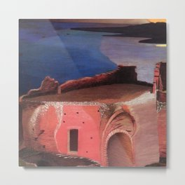 Valley of the Temples, Sicily Ruins of the Greek Amphitheater by Csontvary Kosztka Tivadar Metal Print