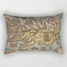 Antique Map Of Iceland 1603 Rectangular Pillow