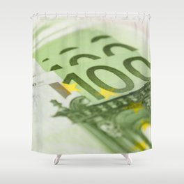 100 euro banknotes Shower Curtain