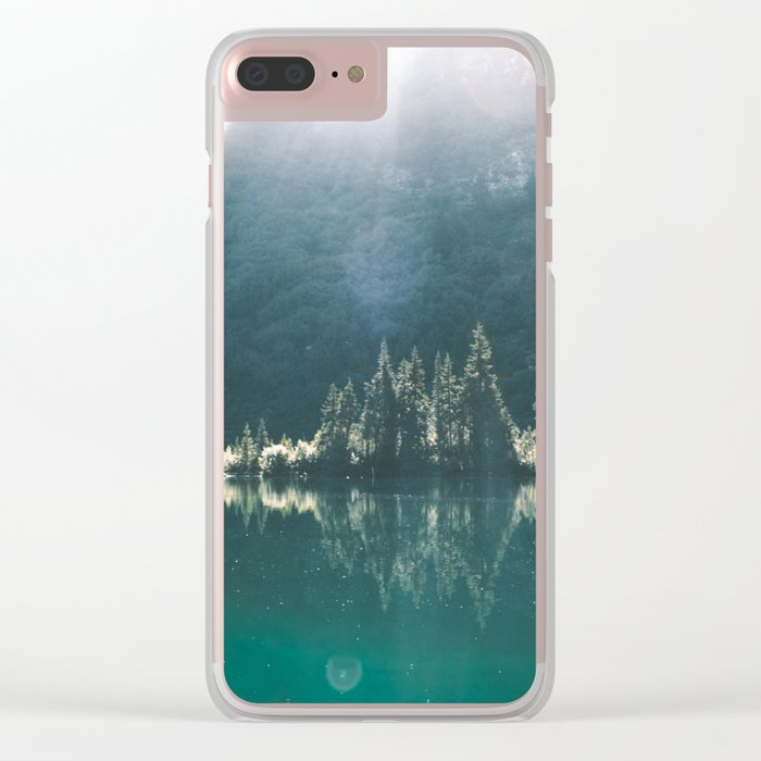Blue Lake Clear iPhone Case