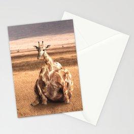 Cute Funny Fat Giraffe Stationery Cards