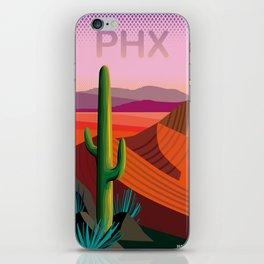 Phoenix Arizona Travel Poster iPhone Skin