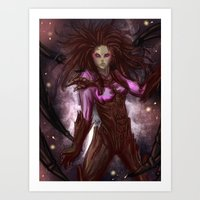 starcraft Art Prints featuring Kerrigan by Midnight Tardis