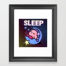 Kirby Sleep Framed Art Print