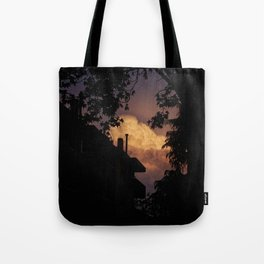 Explosive Sunset Tote Bag