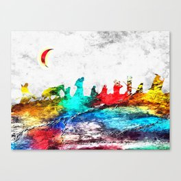 The Fellowship of the Ring Grunge Canvas Print
