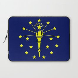 flag indiana,midwest,america,usa,carmel, Hoosier,Indianapolis,Fort Wayne,Evansville,South Bend Laptop Sleeve