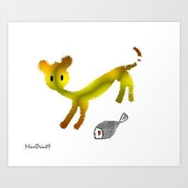Catty Affairs Art Print