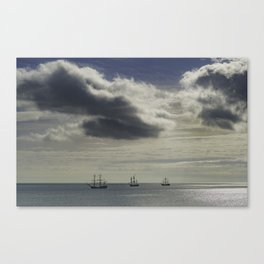 These three ships, Dublin Ireland Canvas Print