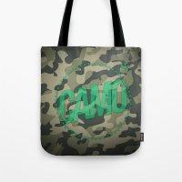 camo Tote Bags featuring Camo by GabrieleCigna