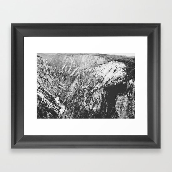Canyon Black and White Framed Art Print