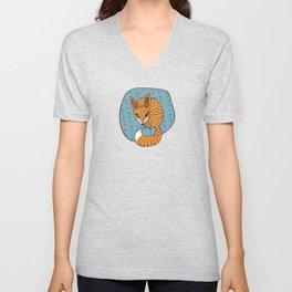 Fox Hole Unisex V-Neck