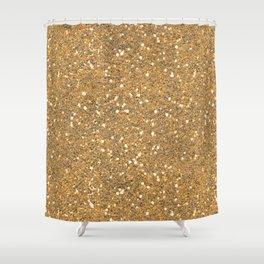 Gold Glitter Shower Curtain