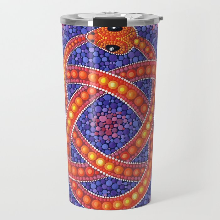 Red Celtic Snake Travel Mug