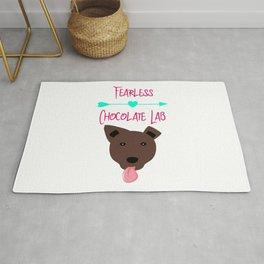 Fearless Chocolate Labrador Rug