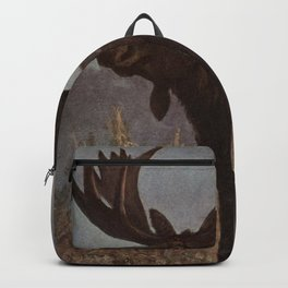 Vintage Moose Painting (1909) Backpack