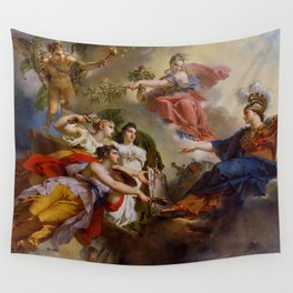 Charles Meynier - France, under the guise of Minerva, Protecting the Arts Wall Tapestry