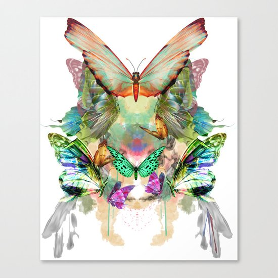 The fate of the butterfly Canvas Print