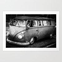 volkswagen Art Prints featuring Volkswagen by Seza Kaymak