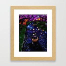 Dreamy river Framed Art Print