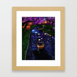 Dreamy river Framed Art Print