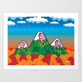 The sleeping giants Art Print