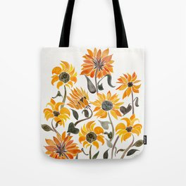 Sunflower Watercolor – Yellow & Black Palette Tote Bag