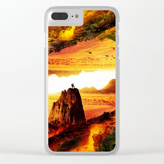 Lava Isolation Clear iPhone Case