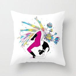 Dancing stillness Throw Pillow