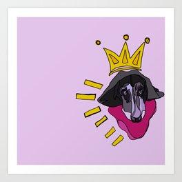 Basquiat Hound Art Print