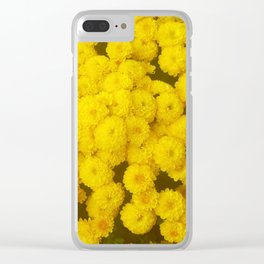 Autumn Gold - Chrysanthemums Clear iPhone Case