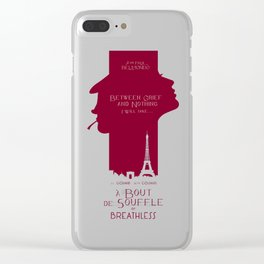 Breathless (À bout de souffle) minimal movie poster, Jean-Luc Godard, classic french film, new wave Clear iPhone Case