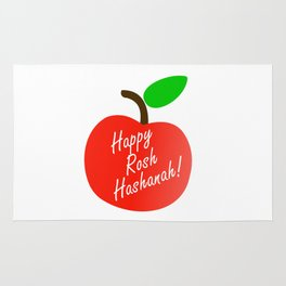 Rosh Hashanah inside an red apple or Jewish Near year greetings Rug