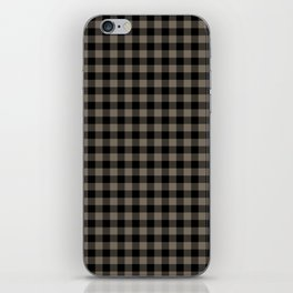 Classic Sandstone Brown Country Cottage Summer Buffalo Plaid iPhone Skin