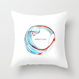 AbbraccioMi // Hugging Myself Throw Pillow