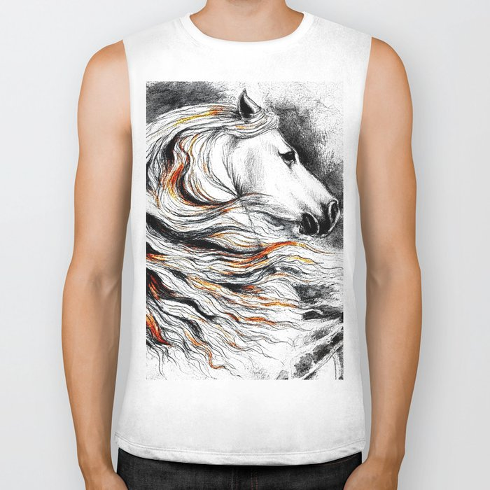 Dark Beauty Horse Biker Tank