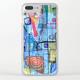 Open Abstract 1 Clear iPhone Case