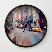 broadway Wall Clocks featuring On Broadway by Wired Circuit