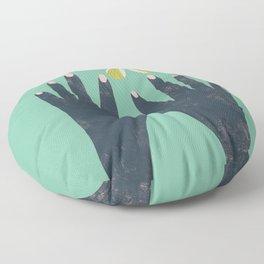 Hands and Butterfly Art Floor Pillow