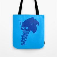 sonic Tote Bags featuring Sonic by La Manette