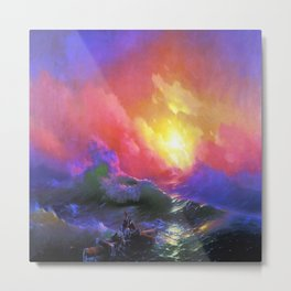 Ivan Aivazovsky The Ninth Wave Metal Print