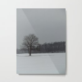 Sometimes We All Stand Alone in the Cold Metal Print