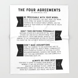 The Four Agreements by don Miguel Ruiz Throw Blanket