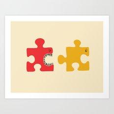 Puzzle Monster Art Print